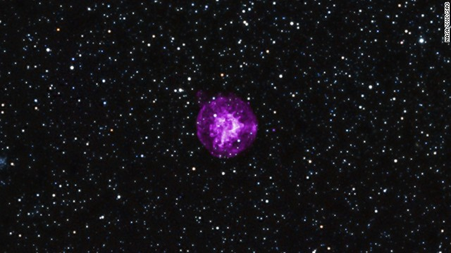 This supernova was likely produced by the collapse of a star's central core.