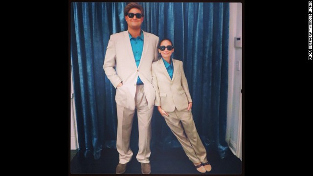 "<a href='http://instagram.com/p/f-T_b5pure/' target='_blank'>Nicole Richie</a> channeled the '80s Danny DeVito classic ""Twins"" for her 2013 Halloween costume."