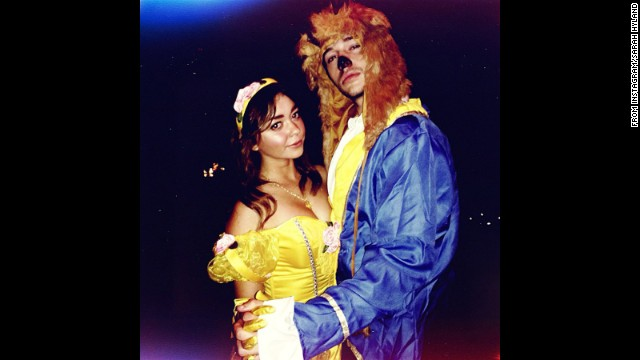 """Modern Family's"" Sarah Hyland settled on a ""tale as old as time"" for one of her 2013 Halloween costumes. ""Walking Dead"" fans will definitely appreciate <a href='http://instagram.com/therealsarahhyland' target='_blank'>the other one she shared. </a>"