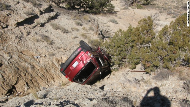 David Welch's van crashed into a ravine in rural Utah, where he died after writing a letter to his family.