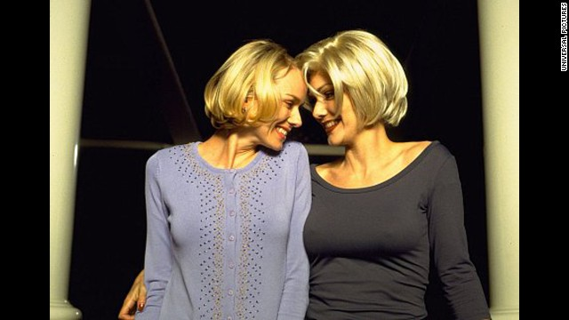 "Naomi Watts, left, and Laura Harring got hot and heavy in ""Mulholland Drive."""