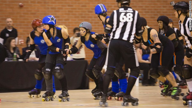 Roller derby is a full-contact racing sport played by women on roller skates.