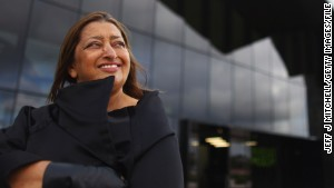 GLASGOW, SCOTLAND - JUNE 09: Zaha Hadid, world famous architect visits the Riverside Museum, her first major public commission in the UK on June 9, 2011 in Glasgow, Scotland. The £74million Riverside Museum will open to the public on 21 June. It has been funded by Glasgow City Council, the Heritage Lottery Fund and the Riverside Museum Appeal. (Photo by Jeff J Mitchell/Getty Images)