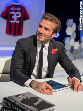 Beckham offered a personalized autograph for e-book buyers across the globe from Brazil to Bermuda in his question and answer session in London.