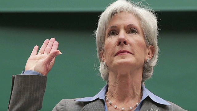 HHS Secretary Kathleen Sebelius prepares to testify before a House committee about the HealthCare.gov website