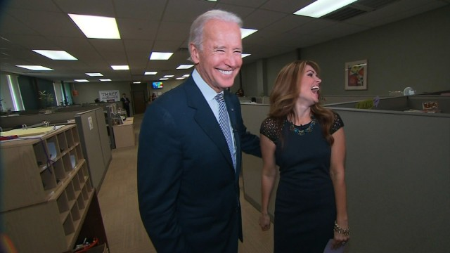 Biden is all smiles when it comes to 2016