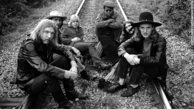 Cemented by brothers Duane and Gregg Allman, The Allman Brothers Band is iconic for both their live jam sessions and their lingering impact on rock 'n' roll. The soulful Southern group, made up of (left to right) Duane, Dickey Betts, Gregg, Jai Johanny Johanson, Berry Oakley and Butch Trucks, released a debut album in 1969 and quickly established a reputation as one of the best. By 1971 the group suffered a devastating blow, when founding Allman brother Duane died in a motorcycle accident.