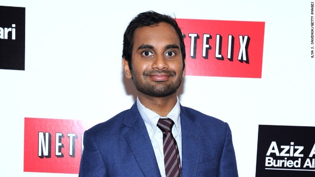 Comedian and actor Aziz Ansari may have hit movie gold during a boring flight.