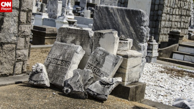 Happy Halloween! Tour one of New Orleans' famed spooky cemeteries in honor of the occasion. See more photos on <a href='http://ireport.cnn.com/docs/DOC-953687'>CNN iReport</a>.
