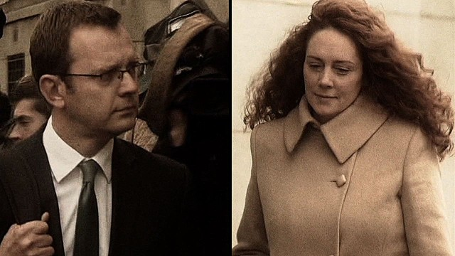 Andy Coulson and Rebekah Brooks are accused of charges including conspiring to hack voicemails and conspiring with others to commit misconduct in public office.