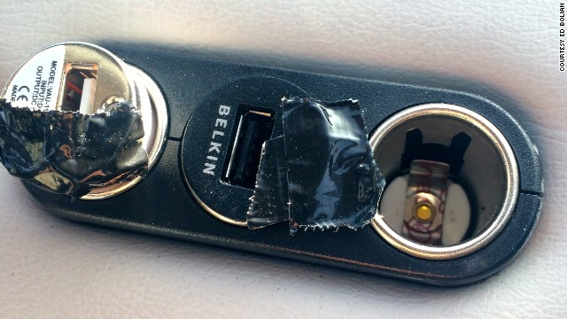 All of those devices need power, so Bolian had extra power ports installed in the car.