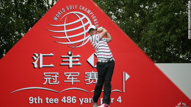 Rory McIlroy hasn't had much to cheer about in 2013. But the Northern Irishman shot an impressive 65 to lead Shanghai's World Golf Championships after the first round.