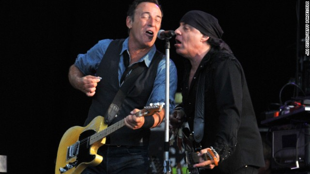 Bruce Springsteen and Steven Van Zandt perform July 14, 2012, in London.