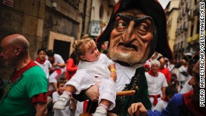 Pamplona\'s pageantry: The Giants and Big Heads Parade.