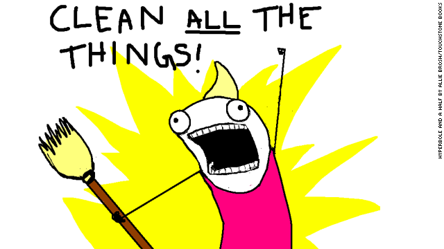 "Allie Brosh, creator of the online comic Hyperbole and a Half, recently published the book, ""Hyperbole and a Half: Unfortunate Situations, Flawed Coping Mechanisms, Mayhem and Other Things that Happened,"" based on her blog. This illustration, from her Hyperbole and a Half comic titled, <a href='http://hyperboleandahalf.blogspot.com/2010/06/this-is-why-ill-never-be-adult.html' target='_blank'>""This is Why I'll Never be an Adult,""</a> inspired a meme. Brosh said her illustrated version of herself is ""not of how I look, but of how I am. Deep down, I'm this absurd, weird thing."""