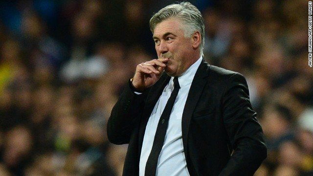 Italian coach Carlo Ancelotti is in his first season at Real Madrid, having replaced Jose Mourinho.