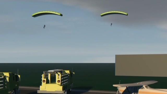Paracaidistas sobreviven milagrosamente tras el choque de dos aviones en Estados Unidos