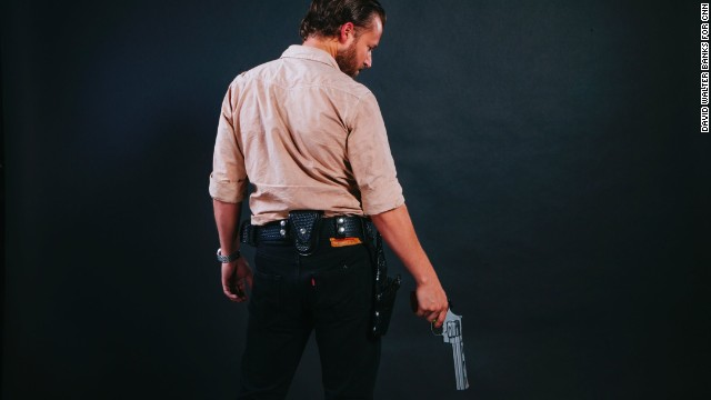 Jason Dempsey, from Cincinnati, Ohio, dressed as Rick Grimes.