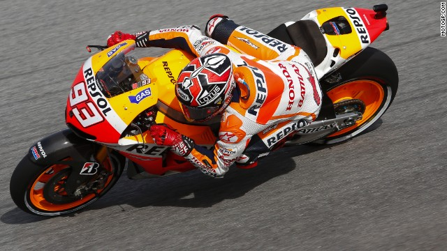 Marquez finished on the podium 16 times, with one disqualification in Australia in October that kept the title race alive and a DNF after crashing at June's Italian Grand Prix.