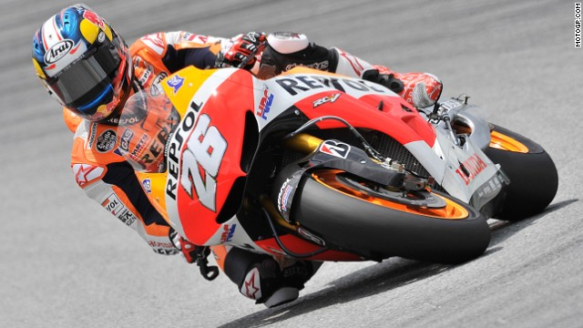 Marquez claimed six victories, while his Repsol Honda teammate Dani Pedrosa (pictured) topped the podium on three occasions.