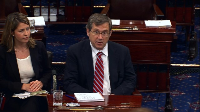 In first speech since stroke, Sen. Mark Kirk advocates for LGBT anti-bias bill
