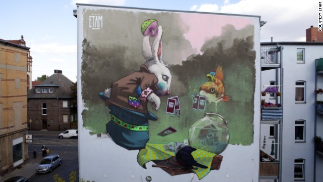 "Etam take their colossal projects abroad including this one called ""All You Can Paint"" in Halle, Germany."