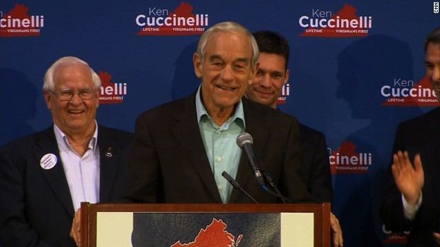 Campaigning for Libertarians, Ron Paul stumps for Cuccinelli in VA