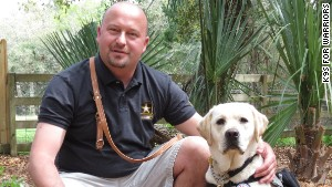 Rescue dogs trained to rescue war vets
