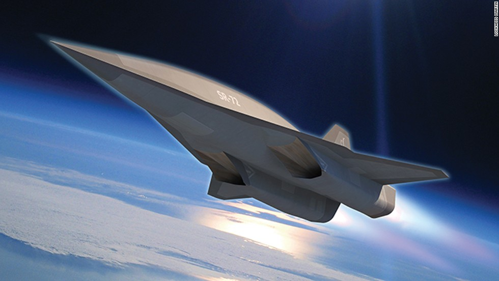 """Lockheed engineers are <a href='http://www.cnn.com/2013/11/05/tech/innovation/new-spy-plane/index.html'>developing a hypersonic aircraft</a> that will go twice the speed of the SR-71 Blackbird, which goes three times the speed of sound. That aircraft, seen in this photo illustration, is called the SR-72 or """"Son of Blackbird."""" Take a look through the gallery to see other stealth and spy planes."""