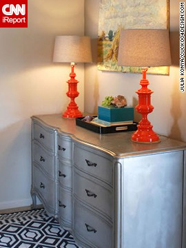 Orange adds a surprise to a silver space for Konya.