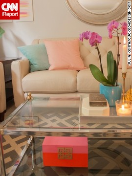 """""""I love the combo of pink, gold and orange,"""" Konya said. """"While it's not for everyone, I have to say that I love it."""""""