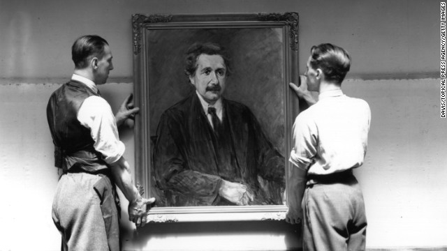 The 1938 London exhibition was a direct answer to the persecution of artists in Nazi Germany. Pictured here is a portrait of Albert Einstein by Jewish artist Max Liebermann. Works by Liebermann are part of a treasure trove of art believed to have been looted by the Nazis which was found in Munich in 2012 and revealed in November 2013.