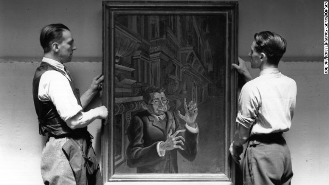 "Artists branded ""degenerate"" by the Nazis were banned from selling or exhibiting their work in Germany. ""Portrait of Myarski"" by Otto Dix was shown in the 1938 London exhibition of German art at the New Burlington Galleries."