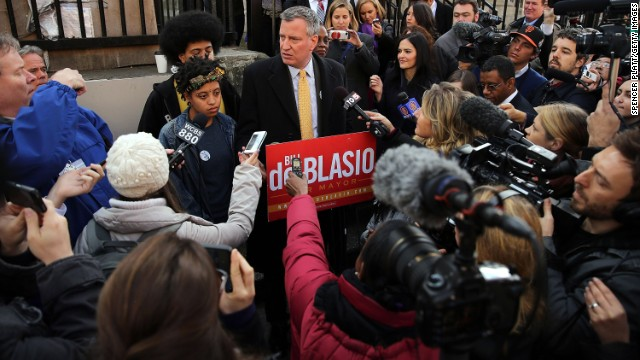 De Blasio wins NYC mayoral race