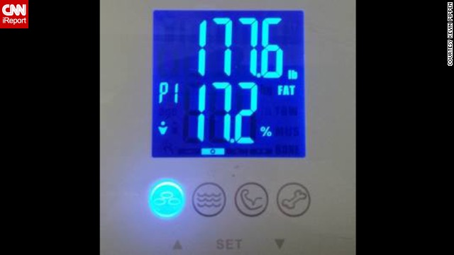 "On October 12, Allen posted this picture to Facebook. ""A temporary dip, but it's the first time I've seen my scales in the 170's!"" he wrote. ""Another pound less cuts me in half."""