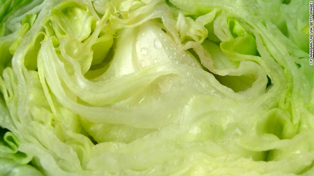 <strong>Iceberg lettuce</strong><!-- --> </br>Water content: 95.6%<!-- --> </br><!-- --> </br> Iceberg lettuce tends to get a bad rap, nutrition-wise. Health experts often recommend shunning it in favor of darker greens like spinach or romaine lettuce, which contain higher amounts of fiber and nutrients such as folate and vitamin K.<!-- --> </br><!-- --> </br> It's a different story when it comes to water content, though: Crispy iceberg has the highest of any lettuce, followed by butterhead, green leaf, and romaine varieties.<!-- --> </br> <!-- --> </br> So when the temperature rises, pile iceberg onto sandwiches or use it as a bed for a <a href='http://www.health.com/health/gallery/0,,20401749,00.html' target='_blank'>healthy chicken salad</a>. Even better: Ditch the tortillas and hamburger buns and use iceberg leaves as a wrap for tacos and burgers.