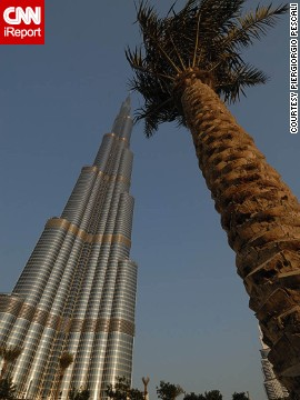 The world's tallest building, the Burj Khalifa, towers over the rest of Dubai. See more photos on CNN iReport.