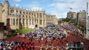 Windsor Castle, the sprawling royal residence where Queen Elizabeth II can occasionally be spotted.