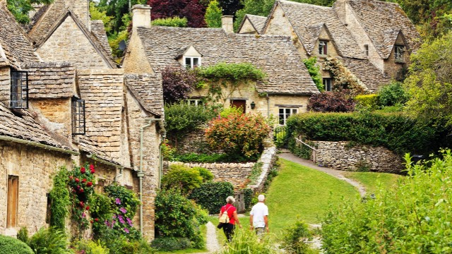 "Bibury is located in England's Cotswold region, designated an ""Area of Outstanding Natural Beauty."""