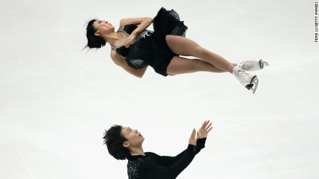 Beijing hosted an International Skating Union event where Qing Pang and Jian Tong were in action.