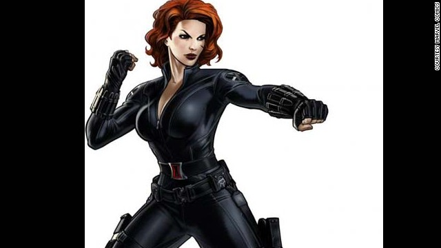 Natasha Romanoff, Black Widow. First appearance in 1964. Marvel Universe.