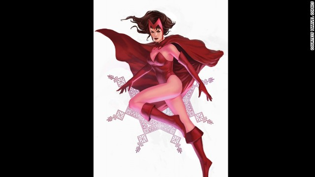 Wanda Maximoff, The Scarlet Witch. First appearance in 1964. Marvel Universe.