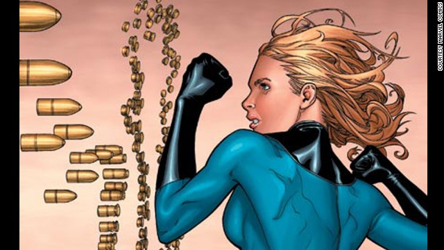 Sue Storm, Invisible Woman. First appearance in 1961. Marvel Universe.