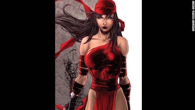 Elektra Natchios, Elektra. First appearance in 1981. Marvel Universe.