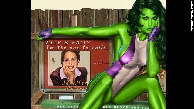 Jennifer Walters, She-Hulk. First appearance in 1980. Marvel Universe.
