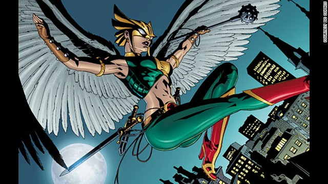 Shiera Sanders, Hawkgirl. First appearance in 1940. DC Universe.