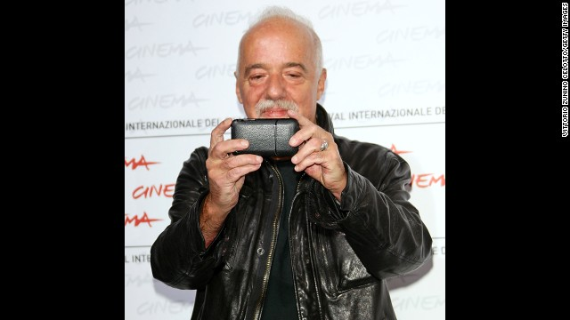 "<strong>Author:</strong> Paulo Coelho (<a href='https://twitter.com/paulocoelho' target='_blank'>@paulocoelho</a>) has 8.9 million followers. His bio reads: ""Writer."""