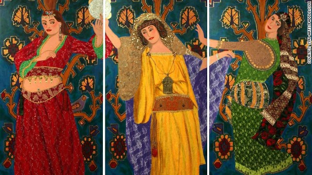 "Gerard Avedissian's ""Danseuses du Sultan."""