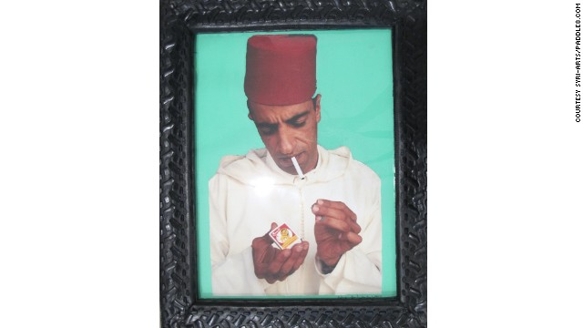 """Ahmed Lighting Up,"" by Hassan Hajjaj."