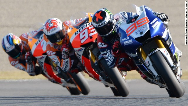Only four riders won races in the 18 stops on the calendar this year -- Lorenzo (eight), Marquez (six), Dani Pedrosa (three) and Valentino Rossi (one).